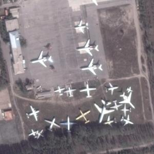 Manas aircraft boneyard (Google Maps)