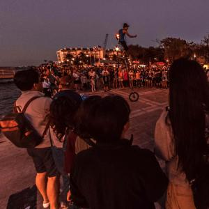 Performer at Mallory Square (StreetView)