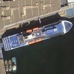 Big Blue Boat (& 3 small tugs) in port d'Alger (Google Maps)