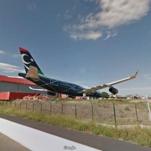 Muammar Gaddafi's Personal Airplane - Airbus A340 [5A-ONE] (StreetView)