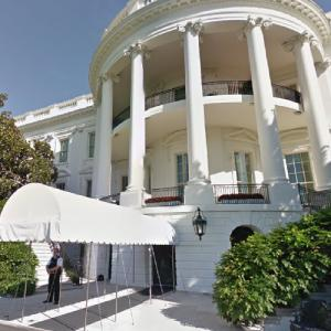 South side of the White House (StreetView)