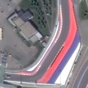 Sochi Autodrom: Turn #9 and #10 (Google Maps)