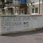 """Justice for the Craigavon two"" mural"