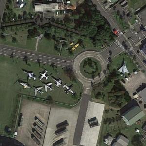Nyutabaru Air Base aircraft static display (Google Maps)