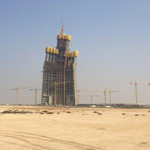 Jeddah Tower (tallest building in the world) under construction (StreetView)