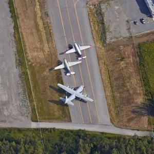 Aircraft static display at Ted Stevens Anchorage International Airport (Google Maps)