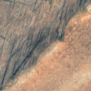 Bandiagara Escarpment (Google Maps)