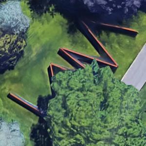 '7 Plates, 6 Angles' by Richard Serra (Google Maps)