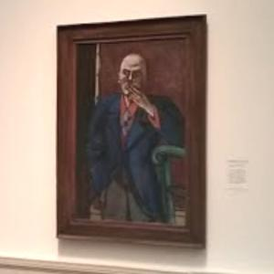 'Self Portrait in Blue Jacket' by Max Beckmann (StreetView)