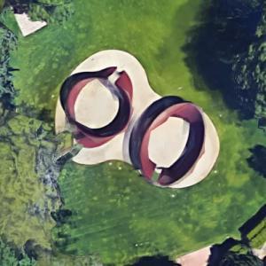 'Torqued Torus Inversion' by Richard Serra (Google Maps)