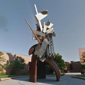 'The Sentinel' by Albert Paley (StreetView)