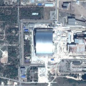 Chernobyl Sarcophagus (Google Maps)