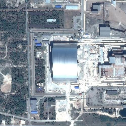 Chernobyl Sarcophagus in Prypiat, Ukraine (Google Maps) (#2)