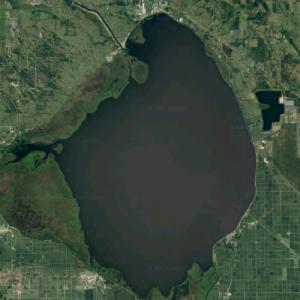 Lake Okeechobee - Largest lake in Florida (Google Maps)