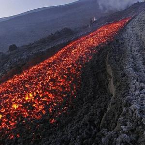 Lava flow of Mount Etna (StreetView)