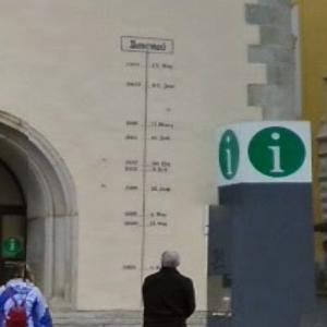 The Flood Marker of Passau (StreetView)