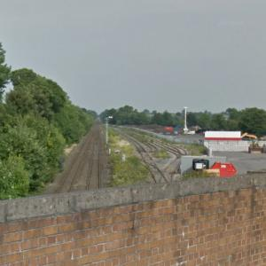 Coton Hill rail crash (StreetView)