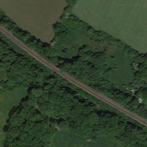 Cowden rail crash (10/15/1994) (Google Maps)