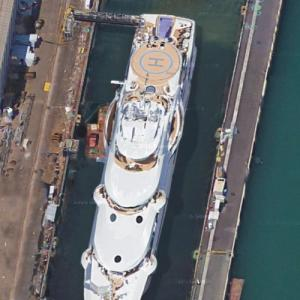 Megayacht 'Maryah' in Barcelona (Google Maps)