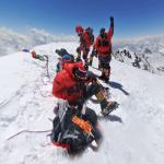 Mountaineers on top of the K2