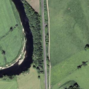 Little Salkeld rail accident (1/19/1918) (Google Maps)