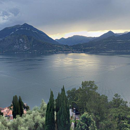 View of Lake Como from Castello di Vezio (StreetView)