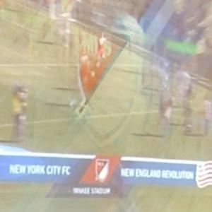MLS Soccer Game on television (StreetView)