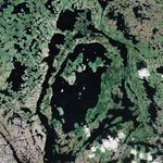 Bull's-eye lake (Google Maps)