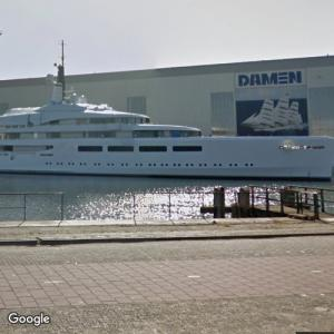 Superyachts at Amels Shipyard (StreetView)