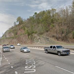Red Mountain Expressway Cut (StreetView)