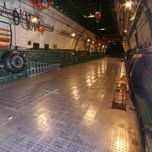 Cargo bay of the Antonov An-225 Mriya (StreetView)