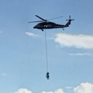 Helicopter rescue at air show (StreetView)