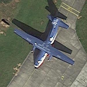 German Airforce Transall C-160 50+95 at Hohn Airforce Base (Google Maps)