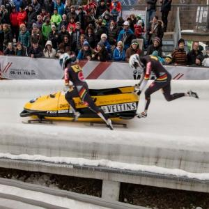 German bobsleigh starting at Igls (StreetView)