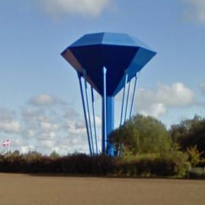 Tyrsted Blue Diamond water tower (StreetView)