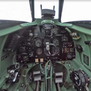 Cock pit of a Supermarine Spitfire (StreetView)