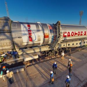 Proton-M rocket start preparation (StreetView)