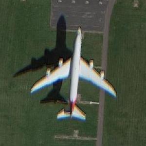 Cargolux 747 landing at AMS (Google Maps)