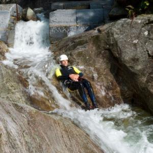 Sliding down a waterfall (StreetView)