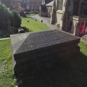 Mary Shelleys grave at St. Peters Churchyard (StreetView)