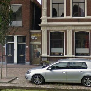 House of Vermeer's painting The Little Street (StreetView)