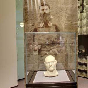 Ned Kelly's death mask and photo at State Library Victoria (StreetView)