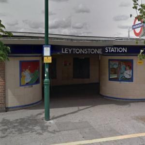 Leytonstone Tube Stations Hitchcock mosaics (StreetView)