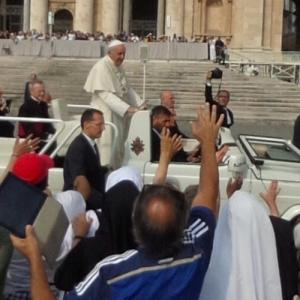 Pope Francis in his Popemobile (StreetView)