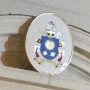 Pope Francis's coat of arms at Castel Gandolfo (StreetView)