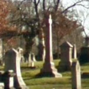 Harriet Beecher Stowe's grave at Philipps Academy Cemetery (StreetView)