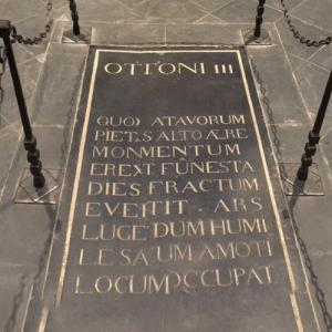 Otto III, Holy Roman Emperor's grave at Aachen Cathedral (StreetView)