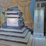 Francisco Pizarro's tomb and display of remains at Lima Cathedral