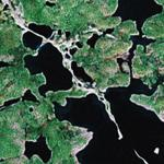 Esker in Canadian arctic (Google Maps)