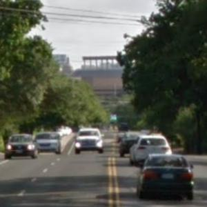 Texas Capitol View Corridor - Red River at 38th (StreetView)